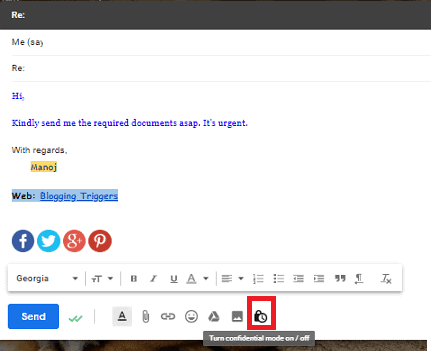How to Send Password Protected Emails with Expiry Date in Gmail