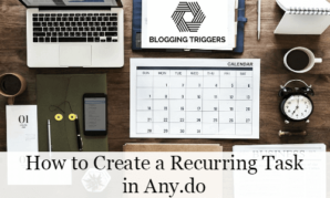 How to Create a Recurring Task in Any do