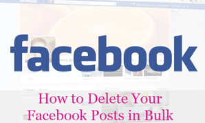 How to Delete Your Facebook Posts in Bulk
