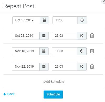 SocialPilot schedule