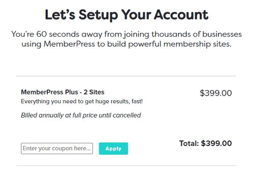 MemberPress signup