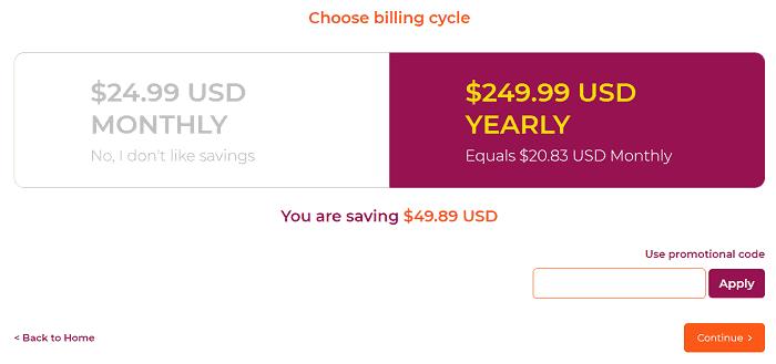 WPX Hosting billing