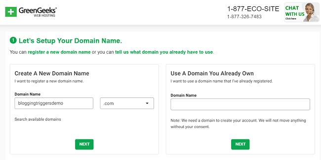 GreenGeeks-free-domain