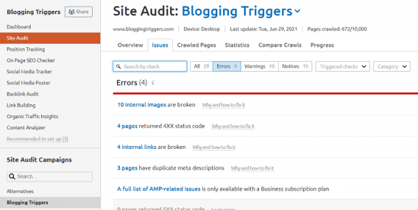 technical seo site audit